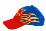 Racing Cap with Large Flame Design